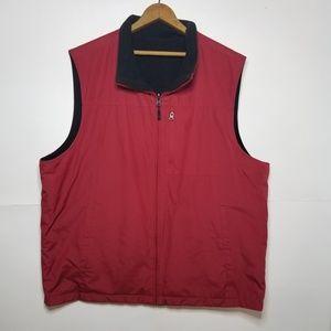 Mens IZOD Reversible Fleece Vest